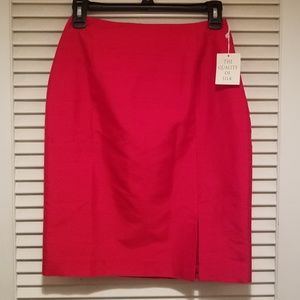 Hugo Buscati 100% silk Red skirt Size 2 NWT
